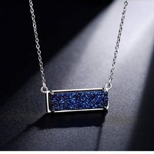 🆕 14K Gold Plated Druzy Bar Necklace